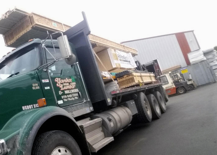Lumber Boom Truck Delivery